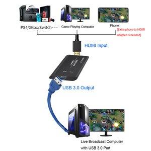 Image 4 - 4k 1080p 60 hdmi para usb 3.0 caixa de captura de vídeo para ps4 wii xbox telefone tv stb jogo de gravação conferência computador ao vivo streaming