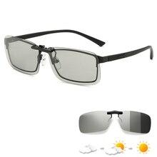 Photochromic Polarised קליפ על משקפי שמש UV400 מקוטב דיג משקפי מקוטב Rimelsss קליפ עבור אופטי מסגרת