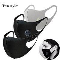 호흡 먼지 입 안티 마스크 안티 두꺼운 마스크 PM2.5 3D 자른 통기성 밸브 남자 여자 활성 탄소 안티 안개 마스크-에서마스크부터 보안 & 보호 의