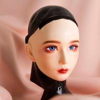 (CDFM 2))Handmade Female/Girl Resin And Latex Hood Full Head Japanese Cartoon Character Cosplay Kigurumi Mask Crossdresser Doll