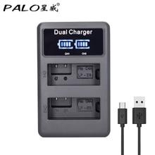 PALO chargeur de batterie de caméra USB, LPE8 LP E8 à affichage LCD pour Canon EOS 550D 650D 700D rebelle T2i T3i T4i