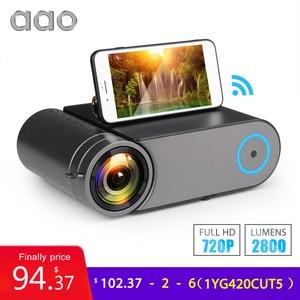 AAO YG420 K9 Mini LED 720P Projector Native 1280x720 Portable Wireless WiFi Multi Screen Video Beamer YG421 3D HDMI Projector(China)
