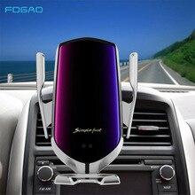 הידוק אוטומטי רכב אלחוטי מטען 10W תשלום מהיר עבור Iphone 11 פרו XR XS Huawei P30 פרו צ י אינפרא אדום חיישן טלפון בעל