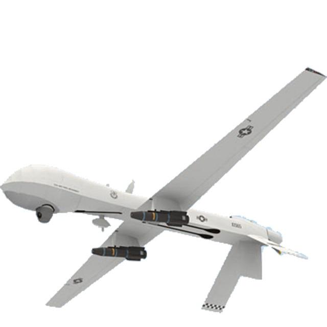 124 us MQ-1 prédateur aéronef sans pilote (UAV) bricolage 3D papier carte modèle jeu de Construction jouets éducatifs militaire modèle Construction jouet