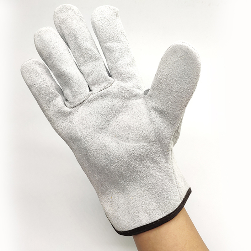 Work Gloves Cowhide Driver Security Protection Wear Safety Workers Welding Gloves
