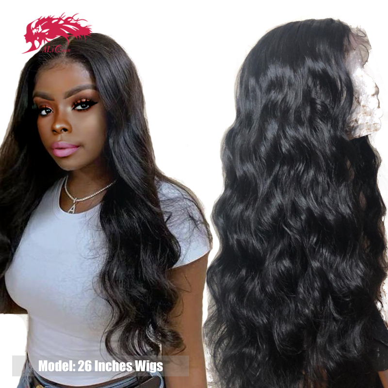 Brazilian Loose Wave Lace Front Wig 13x4 With Pre-Plucked Hairline With Baby Hair 130% Density Virgin Remy Hair Human Hair Wigs
