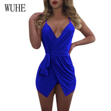 WUHE Spaghetti Strap Sleeveless Women Summer Jumpsuits Sexy V-neck Blackless Hollow Out Shorts Rompers Elegant Femme Playsuits