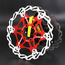 mountain bike disc brake rotor floating disc bicycle brake pad six nail brake disc 180 160mm 203mm SNAIL 160/180/203mm Bicycle Floating Brake Disc Rotor cycling Bettery Bike Brake Accessories Ultralight Fit Shimmano Brakes