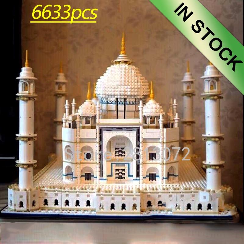 17008 In Stock  The Taj Mahal Architecture Set CREATOR Sydney Opera House Model Building Blcoks Bricks Toys 10256 10234 17003