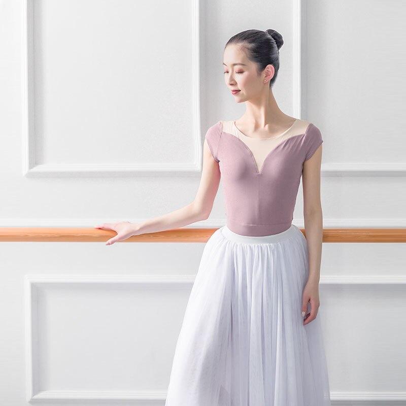 Ballet Practice Leotards For Women Aerialist Dance Costume Short Sleeve Gymnastics Leotard Woman Practice Sexy Adulto Ballerina