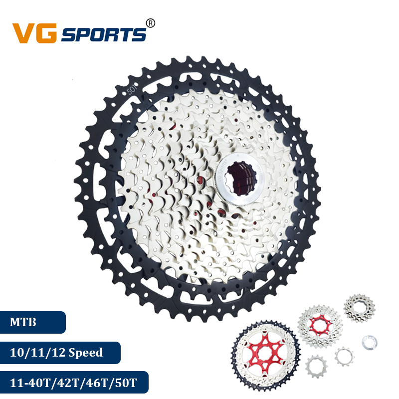 2019 VG Sports Mountain Bike <font><b>10</b></font> 11 12 Speed Velocidade Bicycle Separate Cassette MTB Ultralight Cassete Sprocket 40T 42T 46T <font><b>50T</b></font> image