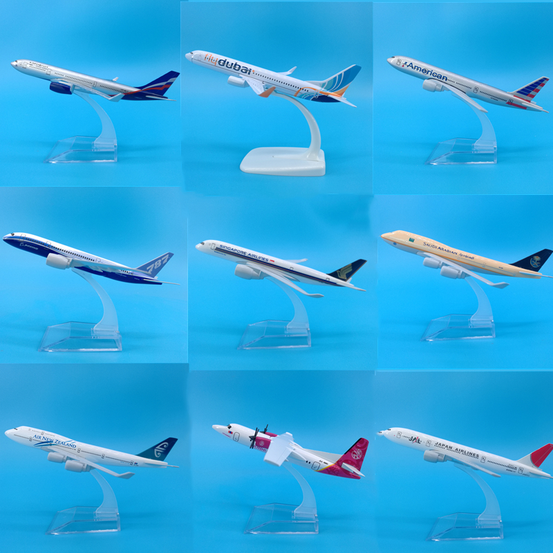 16 CM Airbus A320 A380 A340 Boeing B737 B777 B787 Airplanes Plane Model Diecast Aircraft Toys Airliner Model Kids Christmas Gift