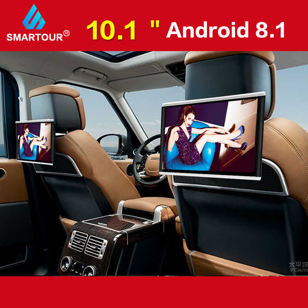 Smartour 10.1 Inch Android8.1 Mobil Headrest Monitor Video HD 1080P Layar Sentuh WiFi/Bluetooth/USB/SD/FM MP5 Video Player