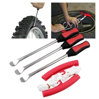 타이어 레버 스푼 세트-헤비 듀티 오토바이 자전거 자동차 타이어 아이언 도구 키트  3 Pcs 타이어 변경 스푼 + 2 Pcs 림 프로텍터