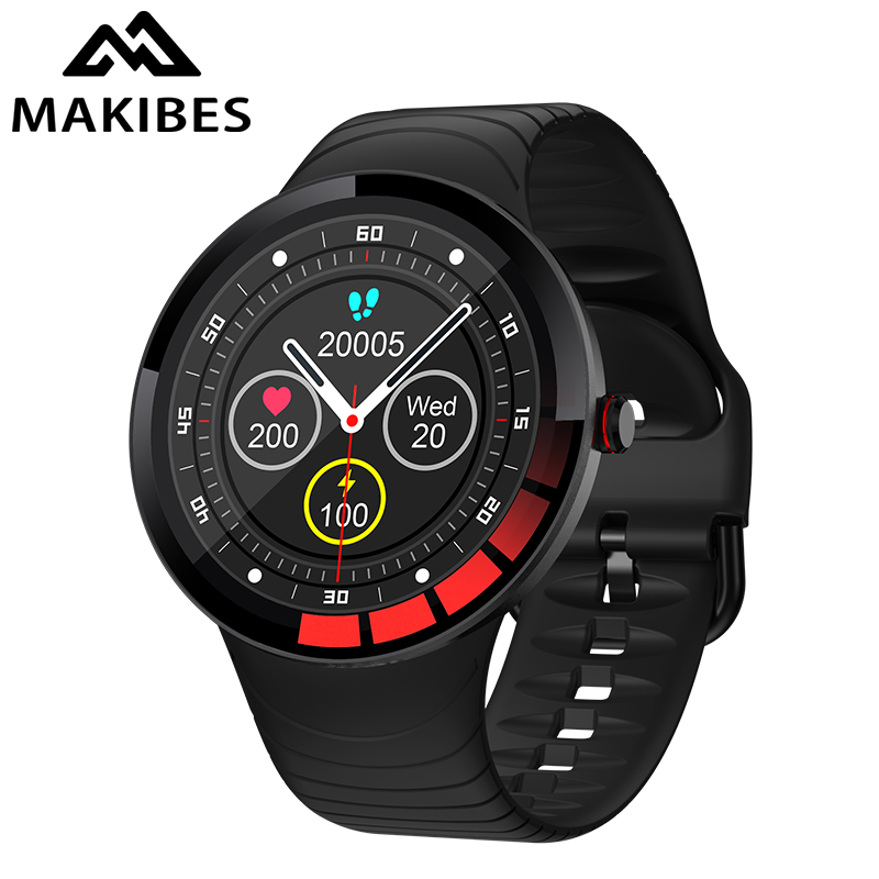 Makibes E3 Smart Watch Full Touch Screen IP68 Waterproof Multi-language Support Weather, Stopwatch, Read Message, Multi-Sports,