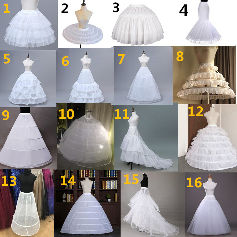 Bridal Petticoat Crinoline Underskirt Prom Dress Hoop Lolita Tulle Petticoat Long Slips White Petticoat Rockabilly Puffy Skirt
