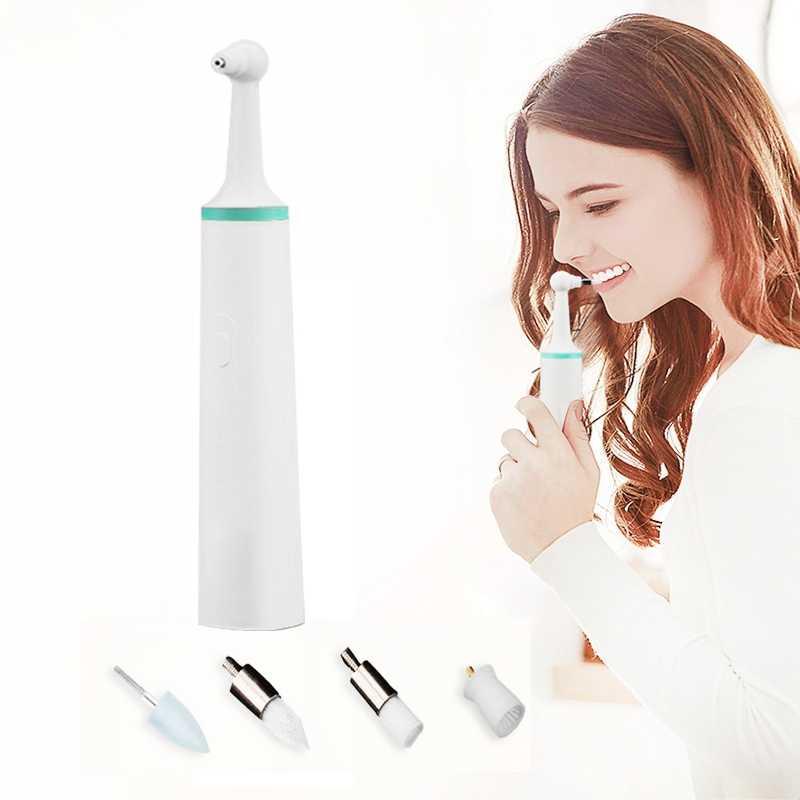ขายร้อนมัลติฟังก์ชั่ทันตกรรมไฟฟ้าฟันขัดฟันทำความสะอาด Professional Stain Remover แผ่นโลหะ Sonic การสั่นสะเทือนฟันไวท์เทนนิ่ง