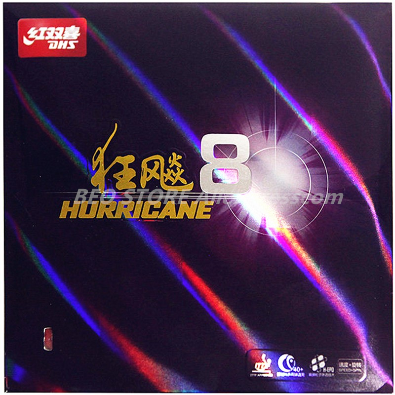 DHS Hurricane 8 Table Tennis Rubber DHS H8 Pips-In Original DHS Ping Pong Sponge