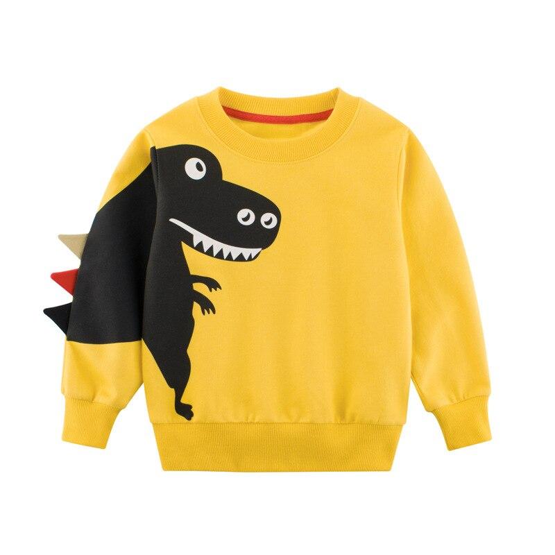 27kids 2-9Years Cartoon Dinosaur Children Boys Sweater Spring Autumn 2019 New Bahy Kids Boys Girls Clothes Chid Boys T Shirts 3