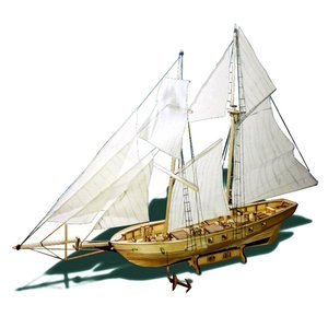 Scale Assembling Building Kits Ship Model Wooden Sailboat Toys Harvey Sailing Model Assembled Wooden Kit DIY Ship Model Gift