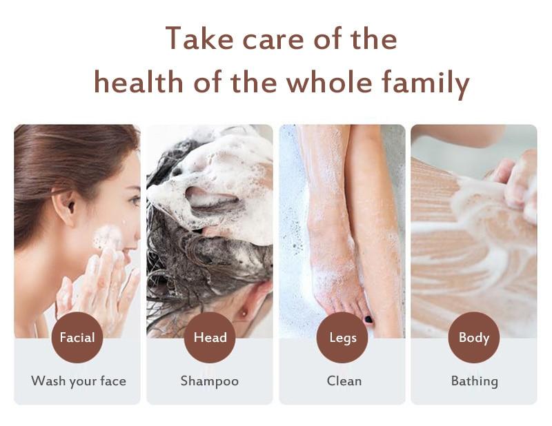 Soap Hair Darkening Shampoo Bar - 100% Natural Organic Conditioner Moisturize Repair Gray White Hair Color Dye Treatment Bamboo 5
