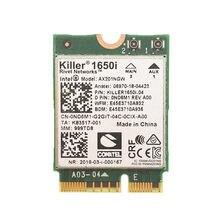 Cartão ax201ngw wifi sem fio ax201ngw 2.4. 11ax/a/b/g/n bluetooth 802 portátil da faixa dupla da c.a. do assassino 1650i 5.0 gbps para windows 10