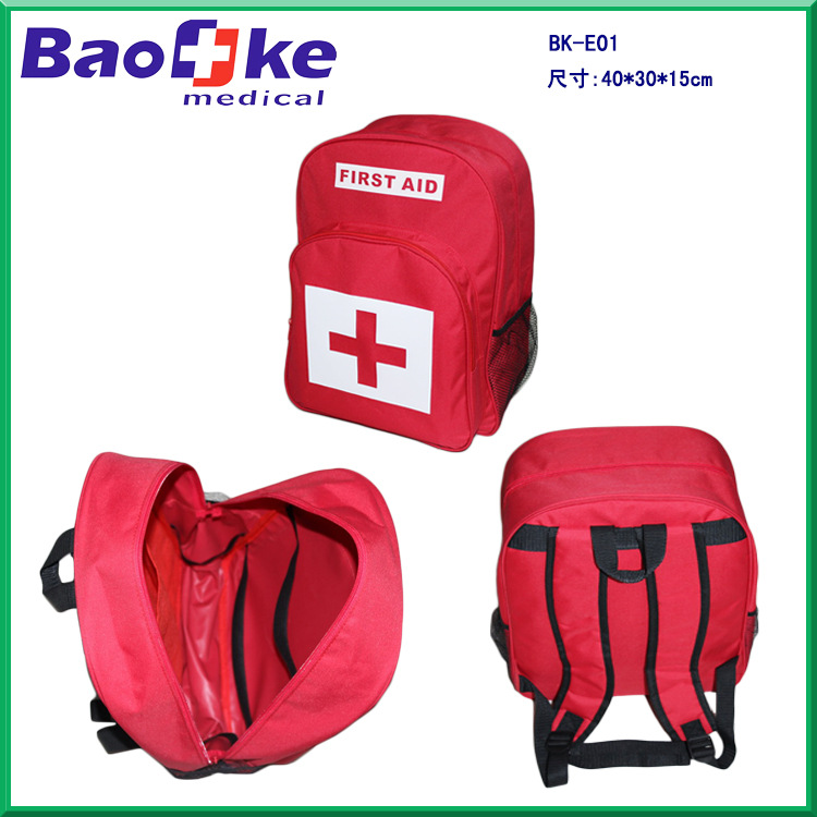E01 Earthquake First Aid Backpack Open Country First Aid Backpack Outdoor Medical Backpack Travel First Aid Kit Disaster Prevent