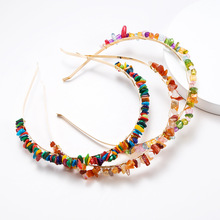 2019 New Za Colorful Turquoise Stone Hairbands For Women Girls Wedding Party Trendy Headband Jewelry Accessories Wholesale Gift