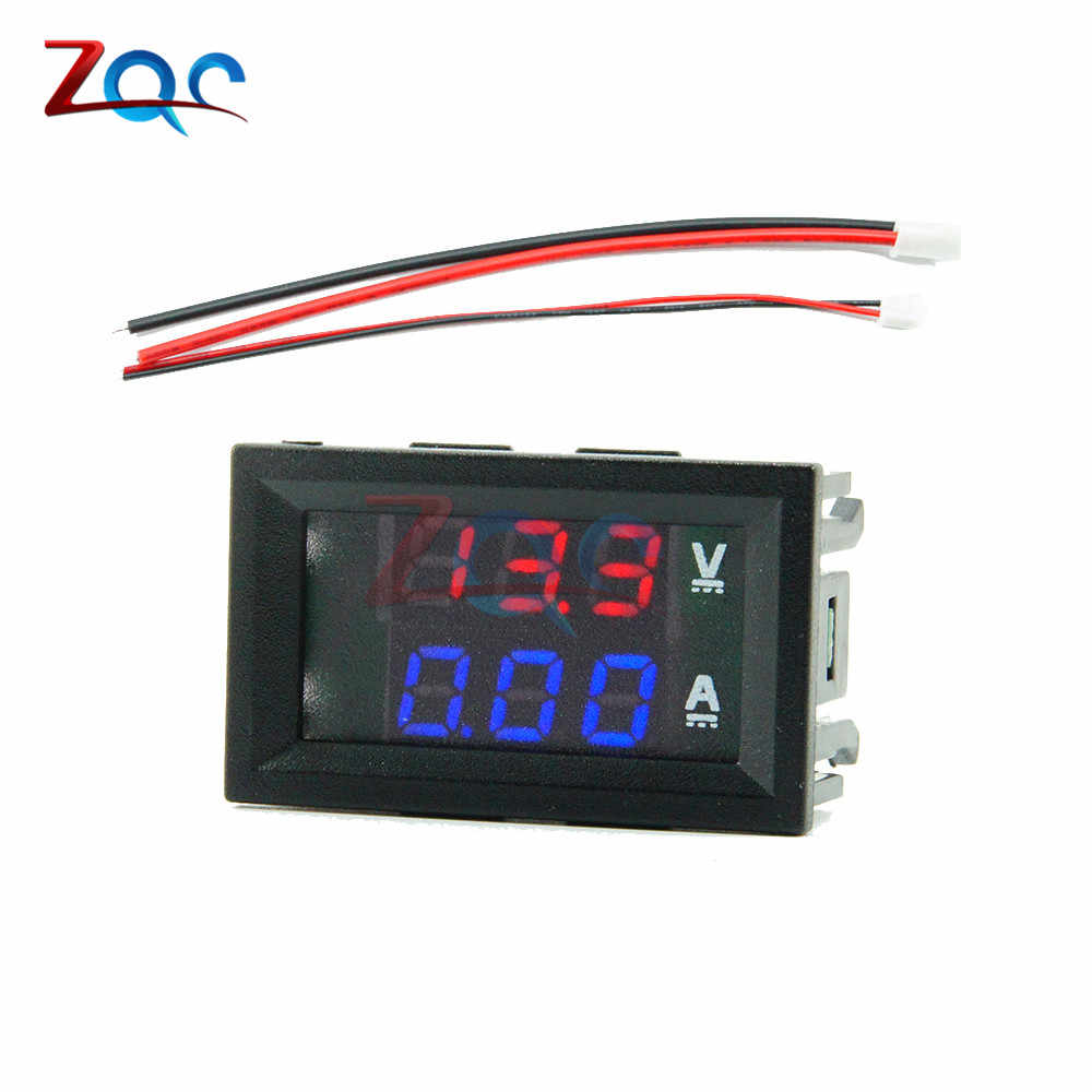 "Mini Digitale Voltmeter Amperemeter Dc 0 -100V/Dc 7 -110 10A Voltage Current Meter Tester Detector 0.28 ""Dual Led Display Auto"