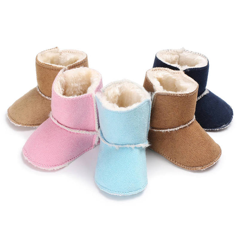 Unisex Baby Soft Bottom Shoes  Keep Warm Newborns Toddler First Walkers  Baby Multicolor   Toddler Boots