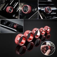5pcs AC Volume Switch Button Ring Cover Decor Style Trim For Toyota Camry 2018