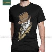 Rorschach-camisetas de algodón para hombres, camisas de cuello redondo, de manga corta de talla grande