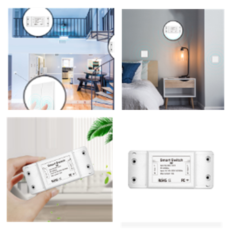 <font><b>RF433</b></font> 110V 220V Wireless Wifi Receiver Smart Remote Control Switch Smart Life/Tuya APP works with Alexa Home from Google image