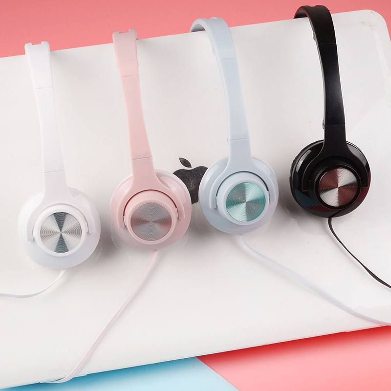 Cute Girls Macaron Stereo Headphones Candy Color Foldable Kids Headset Earphone for Xiaomi Mobile Phone Mp3 Tablet Laptop Gift