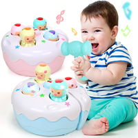 Baby Birthday Cake Hammer Knock Glittering Toys Music Party Noise Maker Musical Instruments Educational Toys for Children Gift