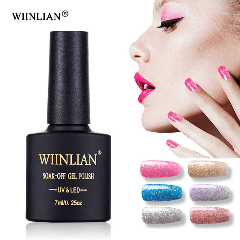 Wiilian Kuku Gel Rainbow Gel Varnish 7 Ml UV Hybrid Tahan Lama Rendam Off Primer Putih Manikur Kuku seni Gel Cat Kuku