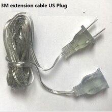 Качественный разъем США/ЕС 3 метра Электрический Удлинительный шнур питания линии кабели освещение аксессуары струны запасные части