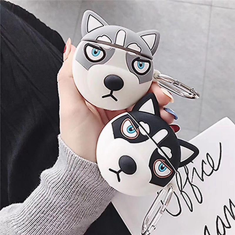 3D Cartoon Cool Lovely Pets Dog Case For Apple Airpods 1 2 Wireless Bluetooth Earphone Cover Puppy Headset Case Cover