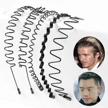 Modele męskie damskie faliste opaski plastikowe opaski do mycia klipy szerokości grzywny spinki do włosów ludzi modele basic 9 modeli tanie tanio bestybt Z tworzywa sztucznego Unisex Dla dorosłych Hairbands Nowość Stałe ZHB10173