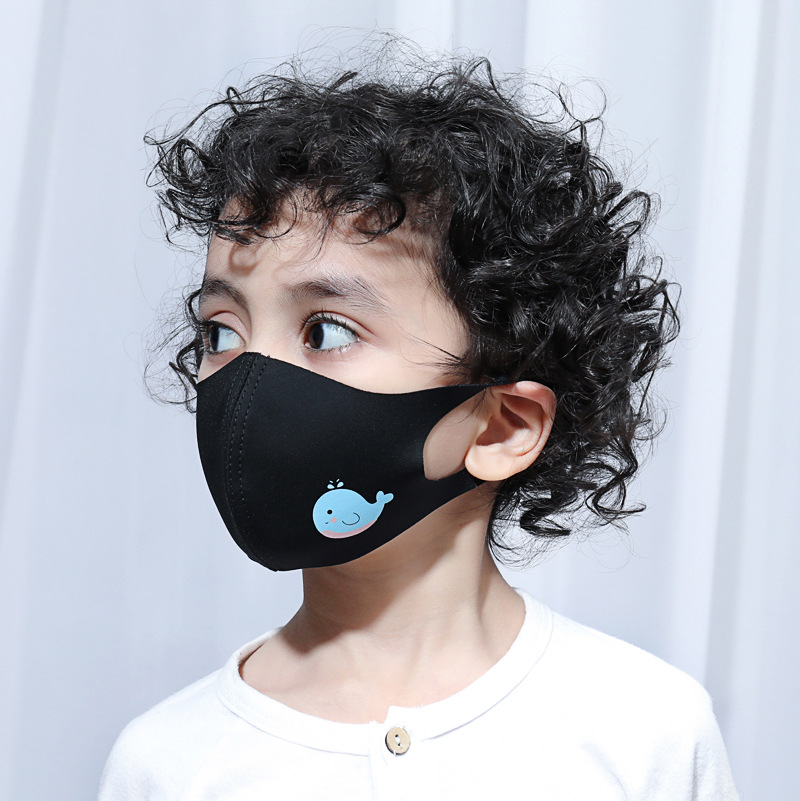 Women Men Kids Animal Black Mouth Mask Anti Dust Windproof Mouth-muffle Bacteria Proof Flu Elastic Face Masks Washable