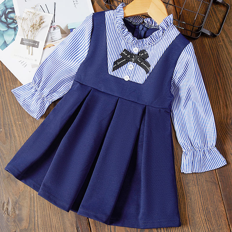 H5baf2f0ac1824db693c749f12880e4b0E Melario Girls Dresses Fashion Kids Girl Dress Printing Long Sleeve Princess Dress Casual Kids Dresses Floral Children's Clothing