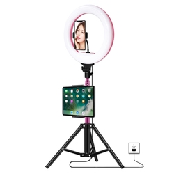 OPQ-32CM Control LED Ring Light with Tripod 1.7M for Live Stream, YouTube Video, Beauty Selfie, Studio Lighting Etc