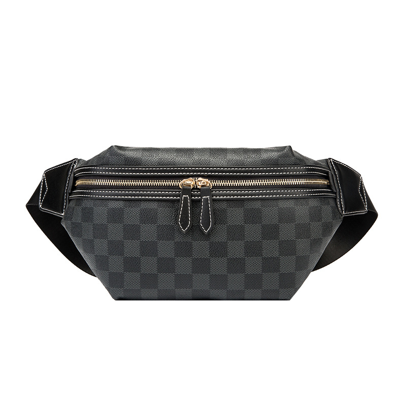 Waterproof Unisex Waist Bags Woman Travelling Chest Bags Stripe Double Zipper Waist Packs For Women Bags Designer Belt Bag