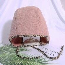 Baby Hat 2-10T Newborn Boys Girls Cute New Autumn Winter Warm Kids Baby Leopard Print Hats Wool Hemming Caps #m