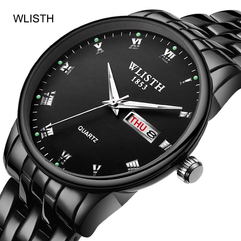 Lovers  Watches Luxury WLISTH Couple Fashion Business Men Luminous Watch  Waterproof Calendar Quartz Wristwatch Relogio Feminino