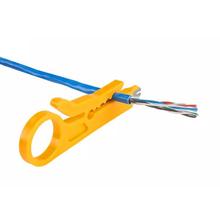 Mini przenośny kieszonkowy szczypce do zdejmowania izolacji nóż szczypce do zaciskania narzędzie do zaciskania ściąganie izolacji z kabla przecinak do drutu Multitool narzędzie do zaciskania tanie tanio Inne CN (pochodzenie) Pocket Wire Stripper Domu DIY Electrical Yellow 9cm 3 53 dropshipping wholesale