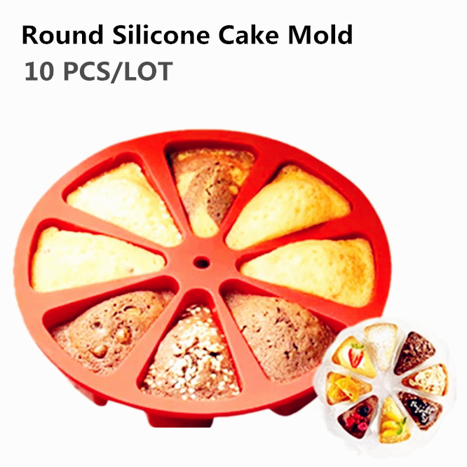 10PCS High quality Round Silicone Melaleuca cake Mold 3D Chocolate Cupcake Candy Mold DIY Birthday Cake Pizza Decorating Tools in Cake Molds from Home Garden