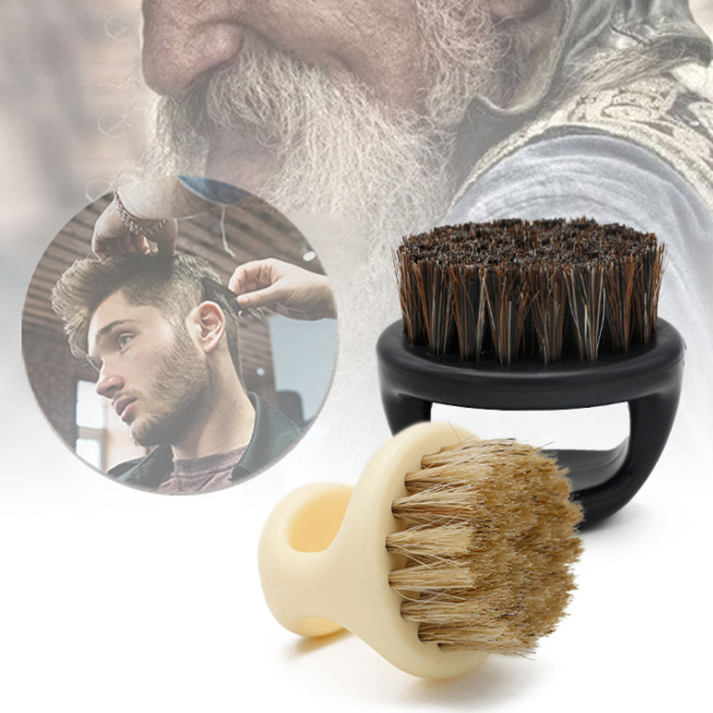 Black ABS Plastic Bristle Shaving Brush Beard Brush Scheerkwast  Barber Brush Brosse Barbe Cepillo Barba Szczotka Do Brody
