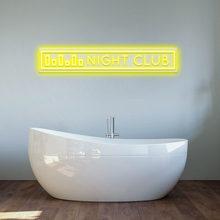 LED Neon Signs Wall Lights Custom Lighting for Home House Room Decor Night Club Logo Lighting Plate Sconce Light Welcome Sign
