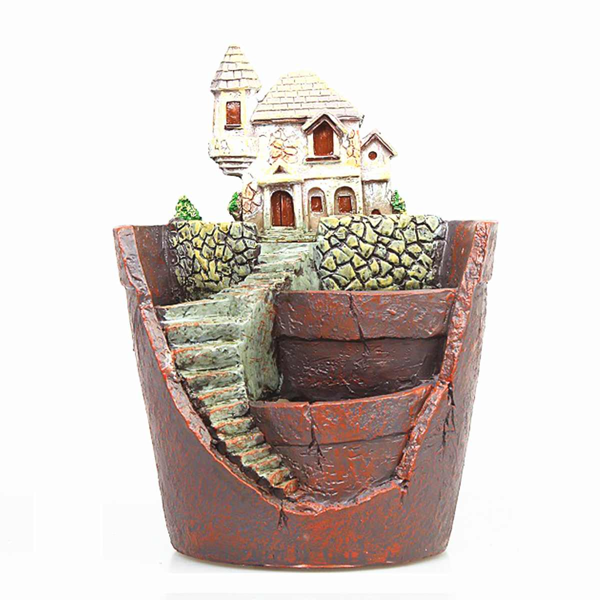 3 Type Succulent Plants Planter Flower Pot Desktop Small Fleshy Plants Herb Mini House Resin Flower Pot Home Garden Decor Craft